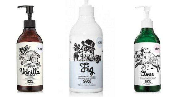 Tekutá mýdla a tělová mléka Yope