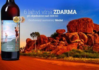 6 láhví vína ZDARMA při objednávce nad 1600 Kč