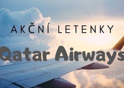 Akční letenky Qatar Airways